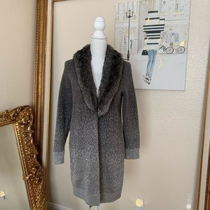Chico's Bridgette Faux Fur Cardigan NWOT